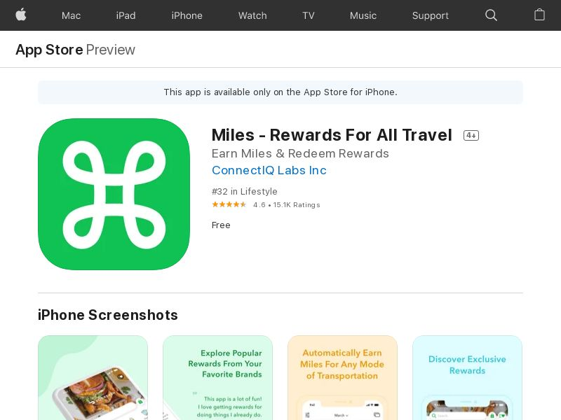 Miles - Rewards For All Travel iOS