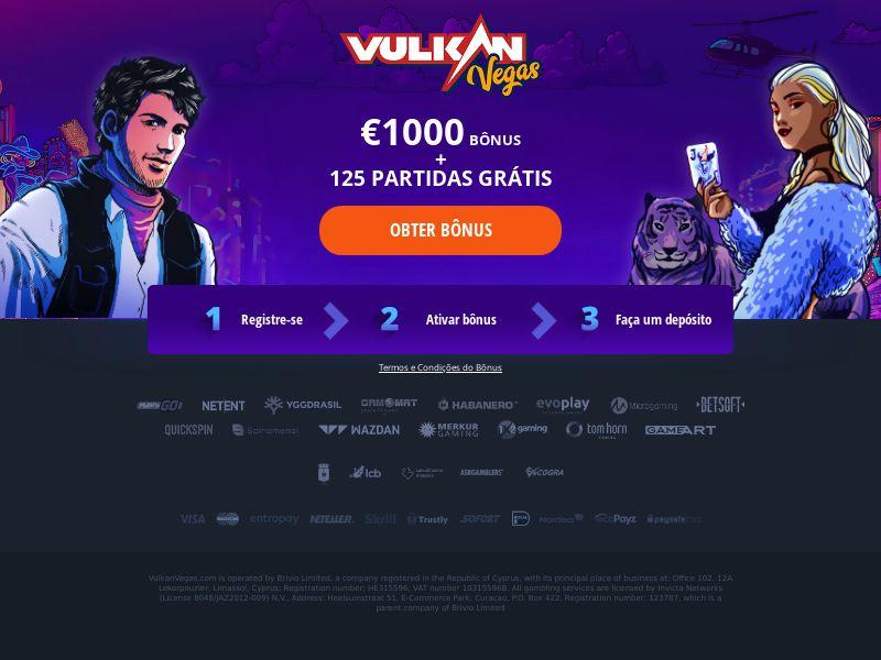 Vulkan Vegas - Welcome Bonus - Apps + FB\InApp - PT