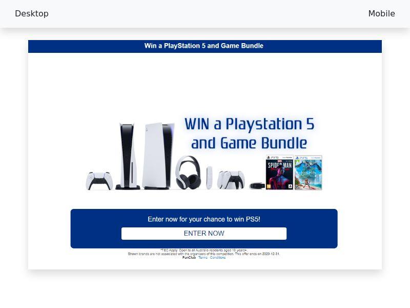 PlayStation 5 and Game Bundle - CPL/SOI - [AU]