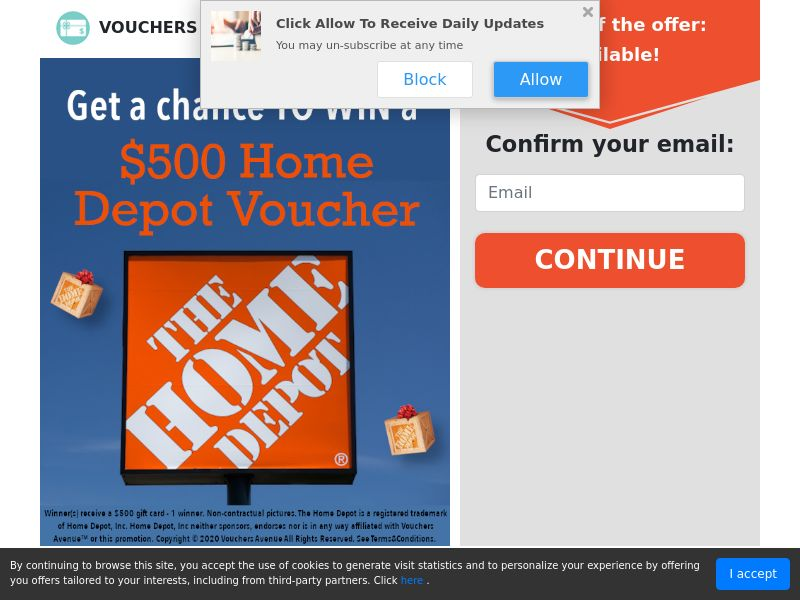 US - Vouchers Avenue - $500 Home Depot Voucher