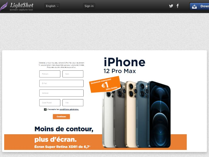 Lucky Winner - iPhone 12 Pro Max - LP70 (BE, FR) (Trial)