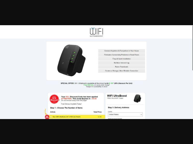 Wifi UltraBoost - eComm / Gadgets - SS - [All GEOs]