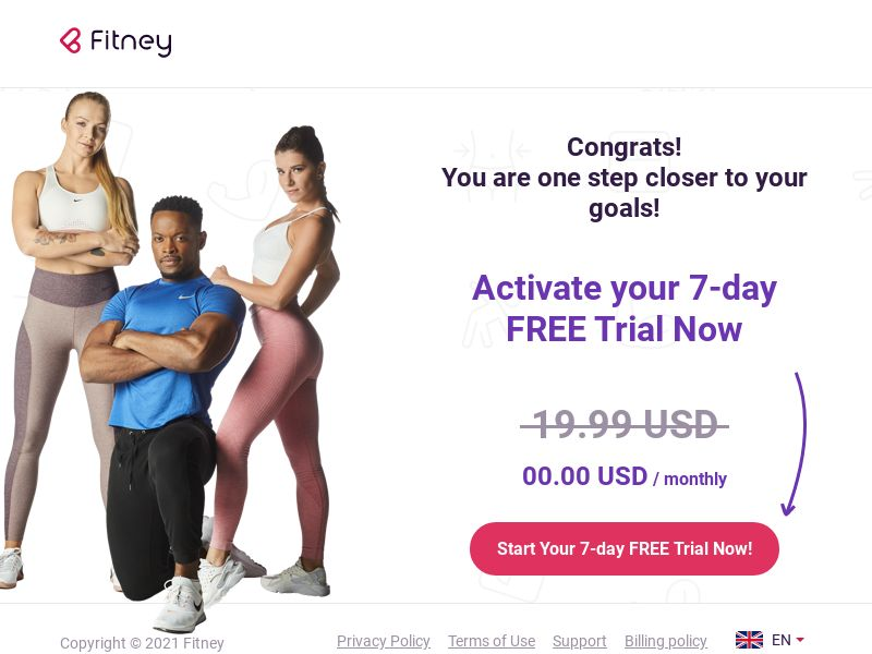 Fitney - 7 Day Free Trial CPL [UK/CA]