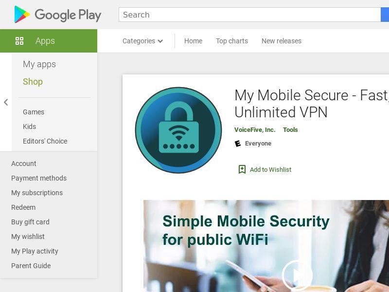 My Mobile Secure Utilities Android US 1.15$ [prelander]