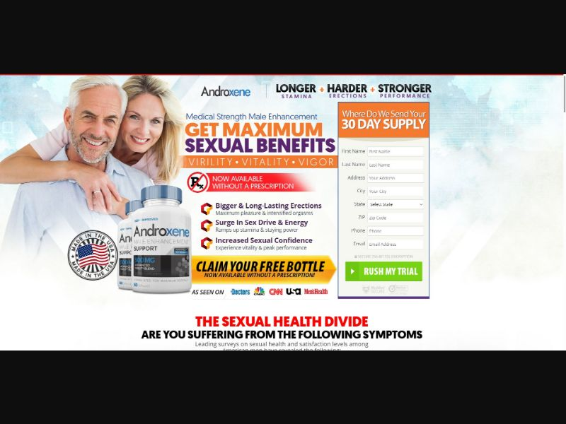 Androxene Male Enhancement Support - Male Enhancement - Trial - [US]
