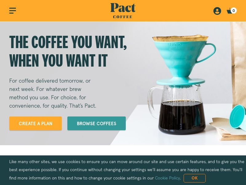 Pact Coffee - £5 off First Order [UK]