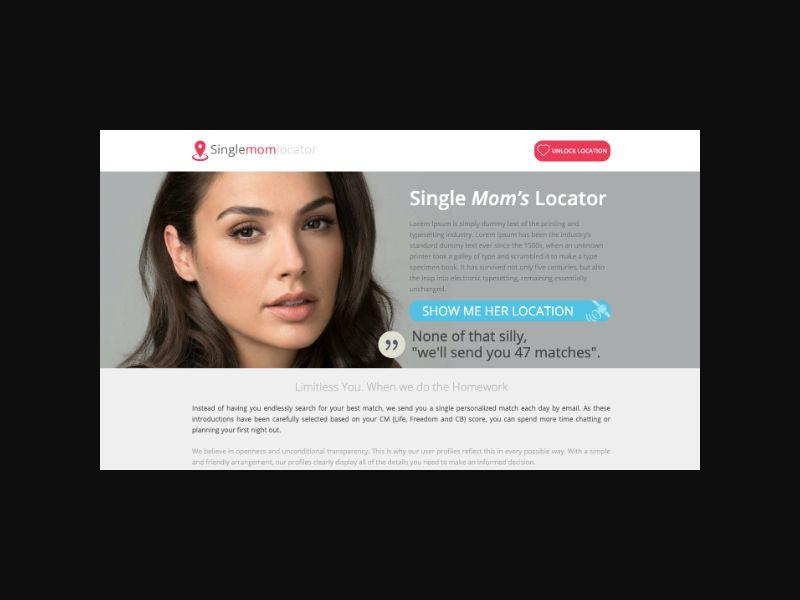 Single Mom Locator - Dating (US,UK,CA,AU,NZ) MaxBounty Exclusive