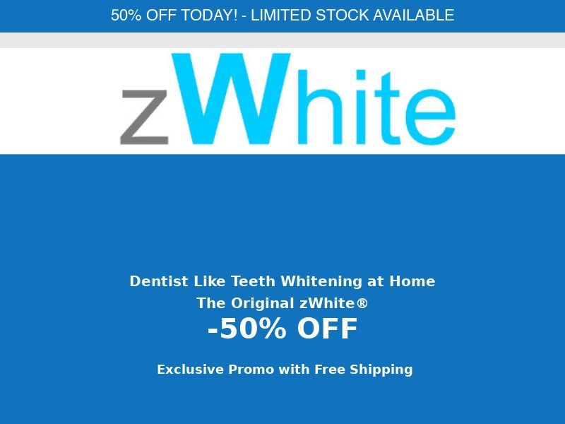 zWhite Teeth Whitening - 50% off