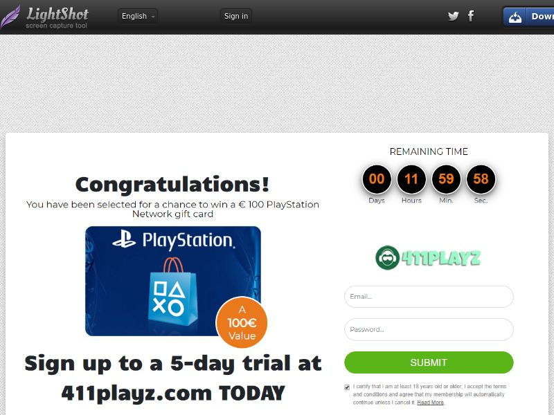 SugarBeats PlayStation Network Gift Card - Trial - SE, FL, NO, DK, CH, BE
