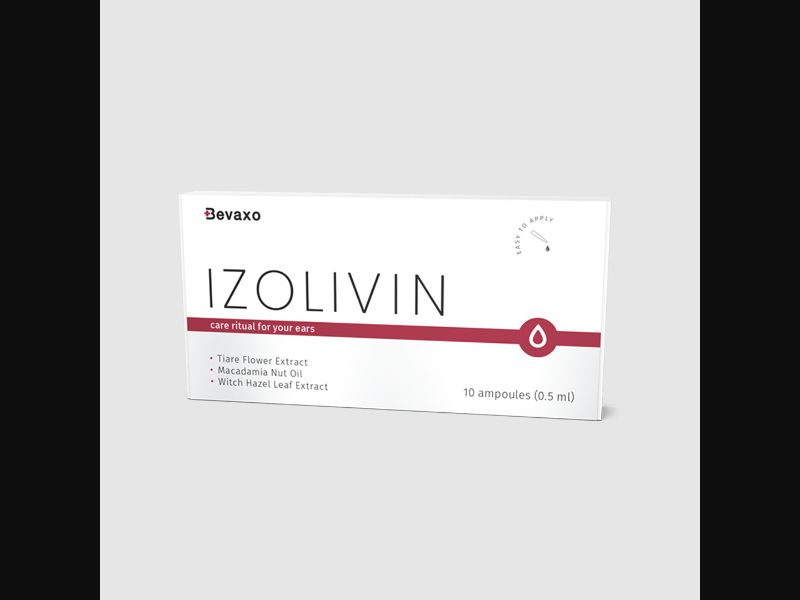 IZOLIVIN – BE – CPA – hearing loss – ear oil ampoules - COD / SS - new creative available