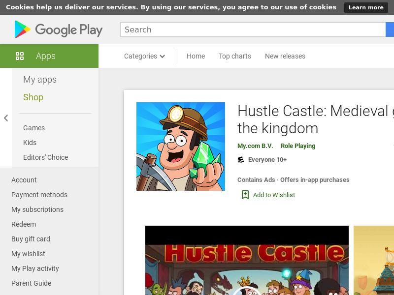 Hustle Castle AND US GAID APPNAME Creative name CPA