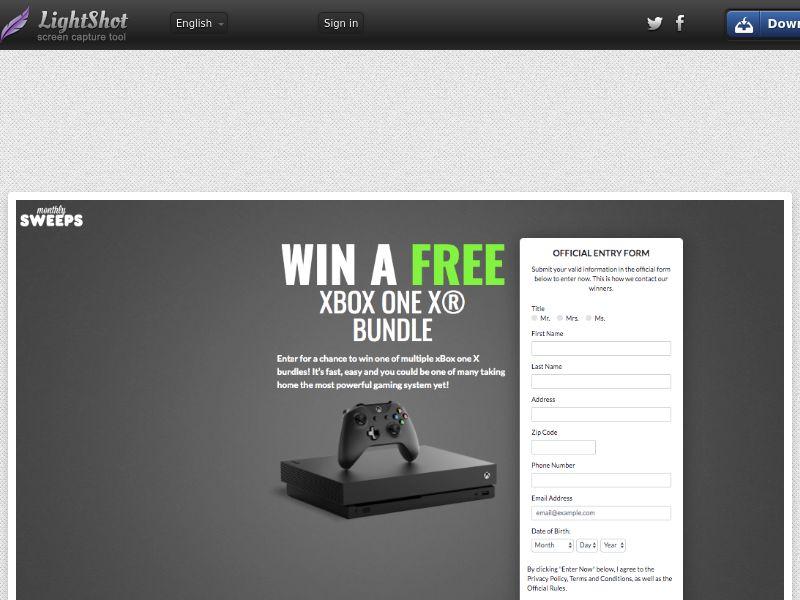 MonthlySweeps - XBox One X Bundle