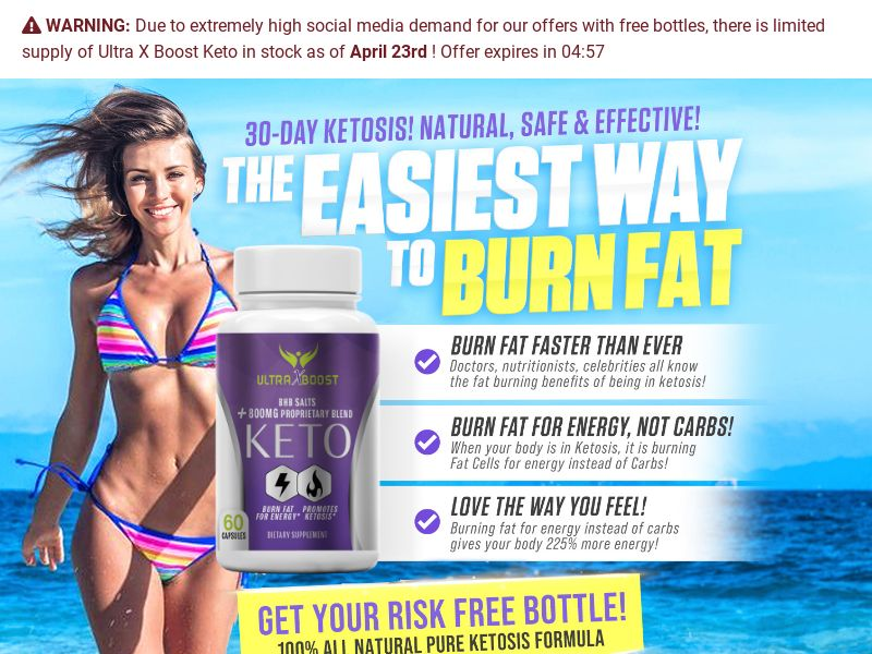 Ultra X Keto Boost BHB Trial - US
