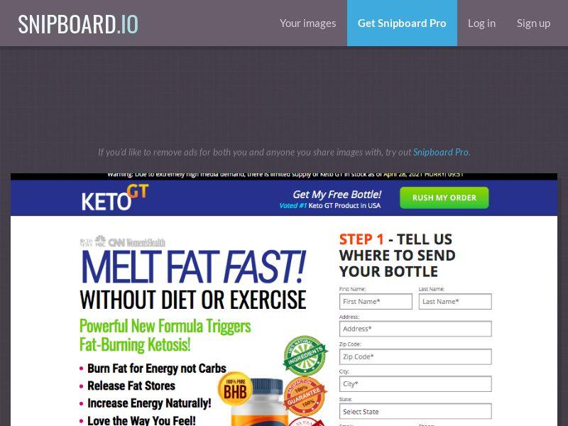 Nutra - KetoGT SS (1 Step) US - Straight Sale