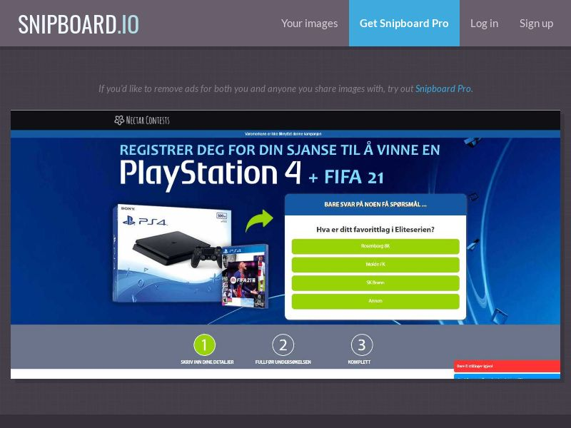 38420 - NO - NectarContests - PS4 FIFA21 (With Prelander) - SOI