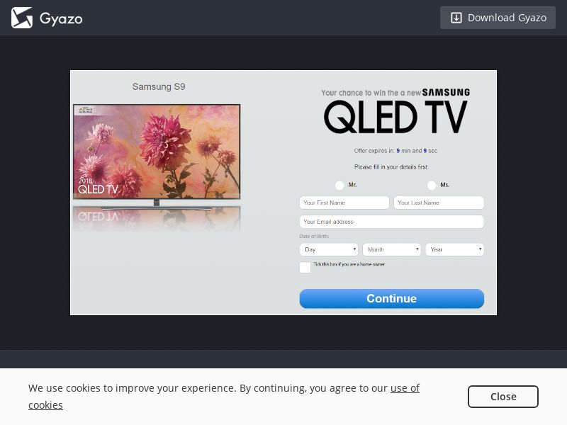 Quiztionnaire Samsung QLED TV AU | SOI CPL - Email/SMS Only