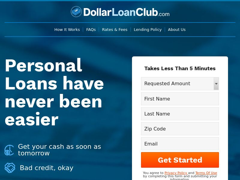 DollarLoanClub.com (PPL) - Payday Loans/Financial - US * PENDING * Private Offer *