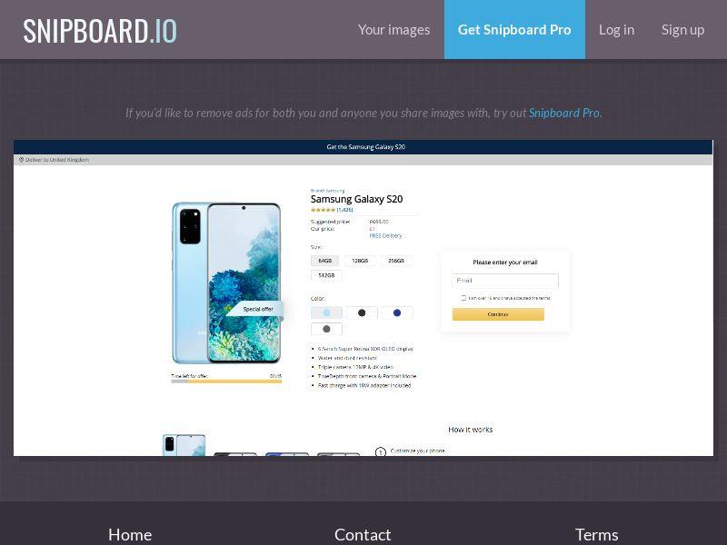 39796 - UK - CreditSupport - Samsung S20 - Amazon - CC submit