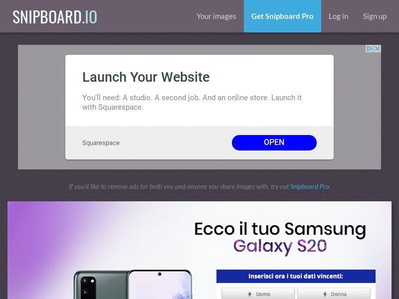 WinMarketing - Samsung Galaxy S20 IT - SOI