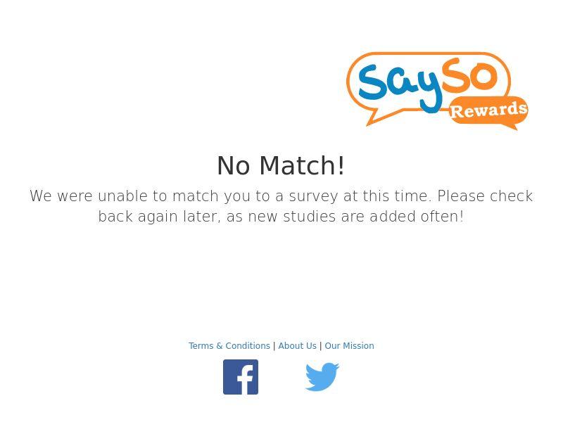 Sayso Rewards (Survey) - SOI - US/UK/CA/AU [INCENT]