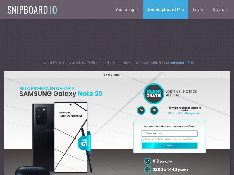 MagnificentPrize - Samsung Galaxy Note 20 ES - CC Submit