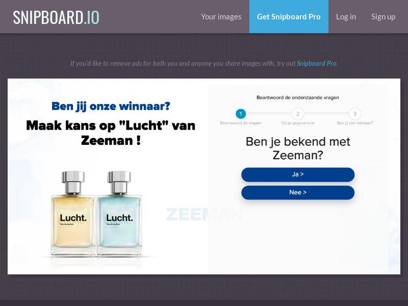 38115 - NL - OnlineWinAction - Zeeman (No Prelander) - SOI 21+