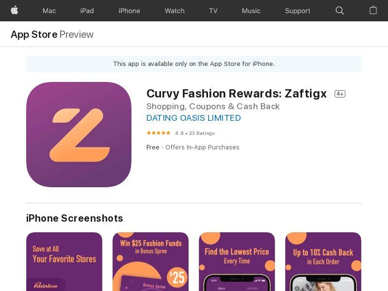 Curvy Fashion Rewards: Zaftigx