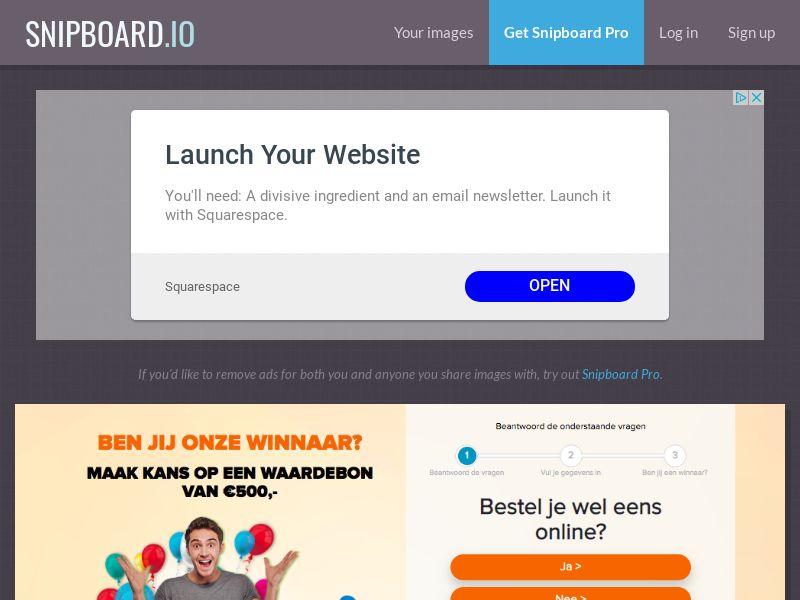 OnlineWinAction - Blokker Giftcard NL - SOI