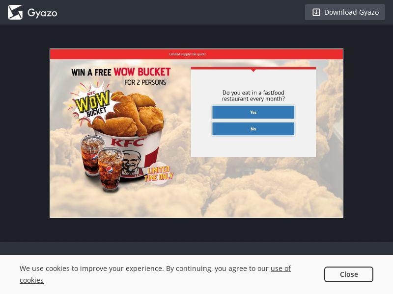 Win a KFC bucket - AU - CPL SOI