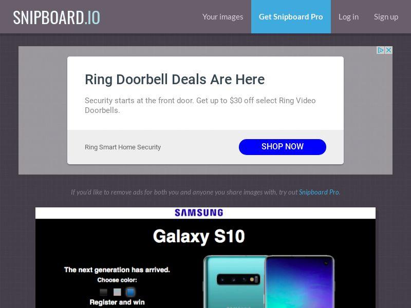 G33K - Samsung Galaxy S10 PT - CC Submit