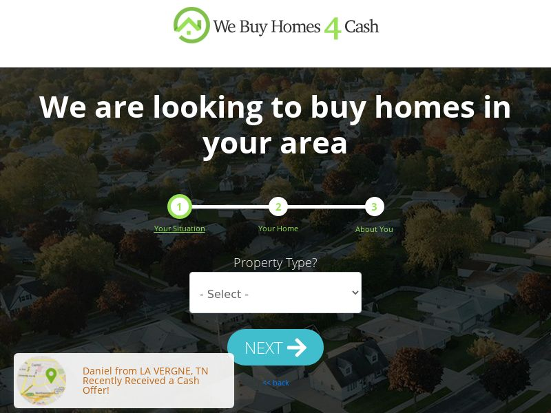 We Buy Homes 4 Cash [US] (Email,Social,Native,Banner,SEO) - CPL