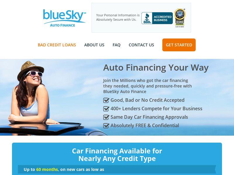 BlueSky Auto Finance - PRIVATE