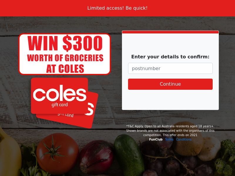 Win $300 Groceries At Coles Gift Card - SOI | AU