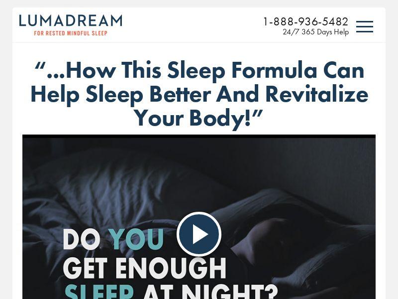 Luma Dream [SLEEP] [VSL] - CPA - Straight Sale - US/CA