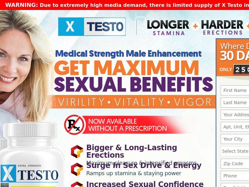 Xtesto Male Enhancement Trial - US (No SEO)