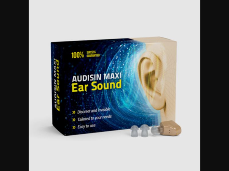 AUDISIN MAXI EAR SOUND 2 – CZ – CPA – hearing loss – hearing device - COD / SS - new creative available