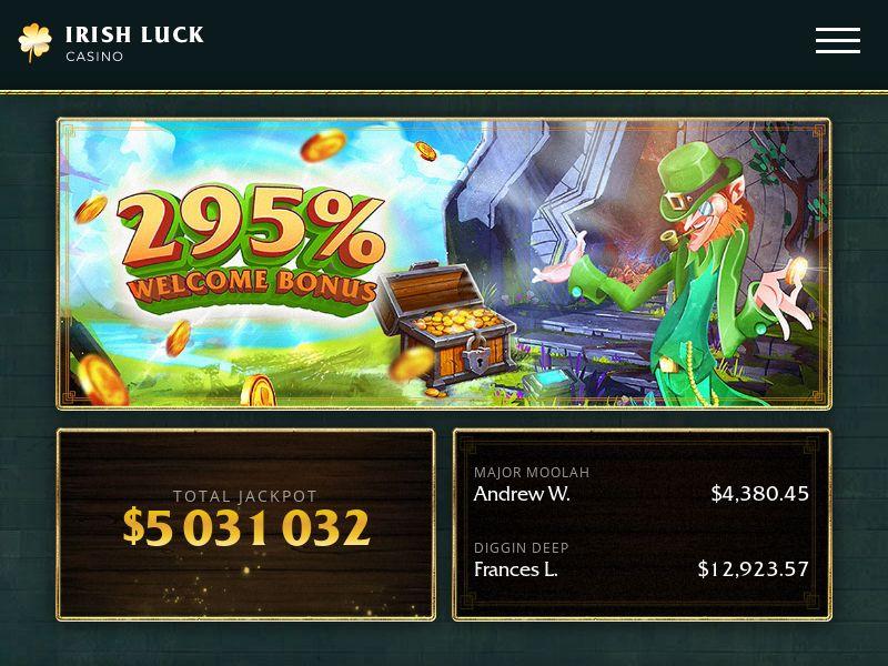Casino Irish Luck CPA US, UK, AU, CA, BE, DK, FR, DE, AT, IE, IT, NL, ES, SE, FI, NO, CH