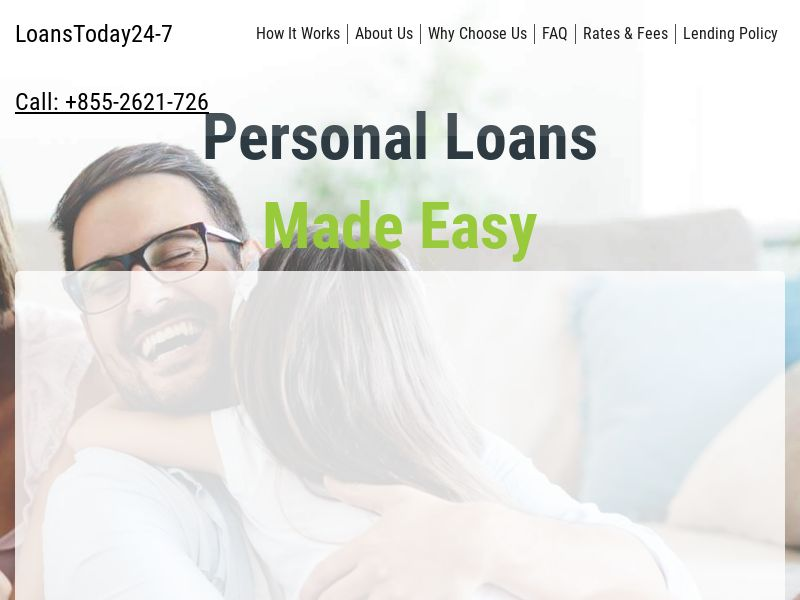 LoansToday24-7 - RevShare [Owned / Inhouse]