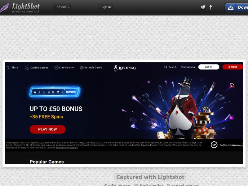 Lord Ping Casino (UK) (CPS) (Personal Approval)