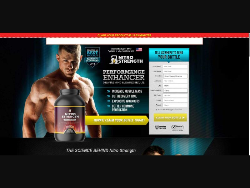 Nitro Strength Muscle Supplement - Muscle Building - SS - NO SEO - [US, CA, IE]