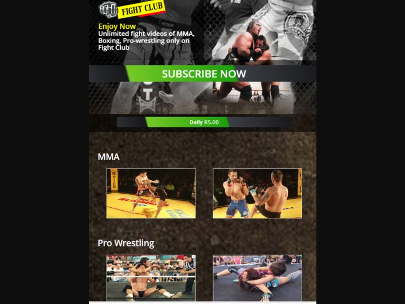 Fightclub - 1 Click - ZA - Vodacom - Online Games - Mobile