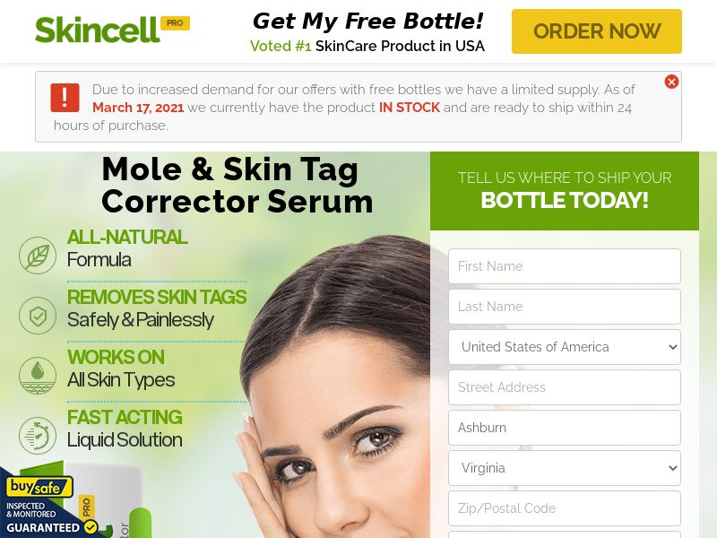 Skincell Pro Skin Tag Remove [US,CA,IE] (Native,Social,Search,PPC,SEO) - CPA {NoBB}
