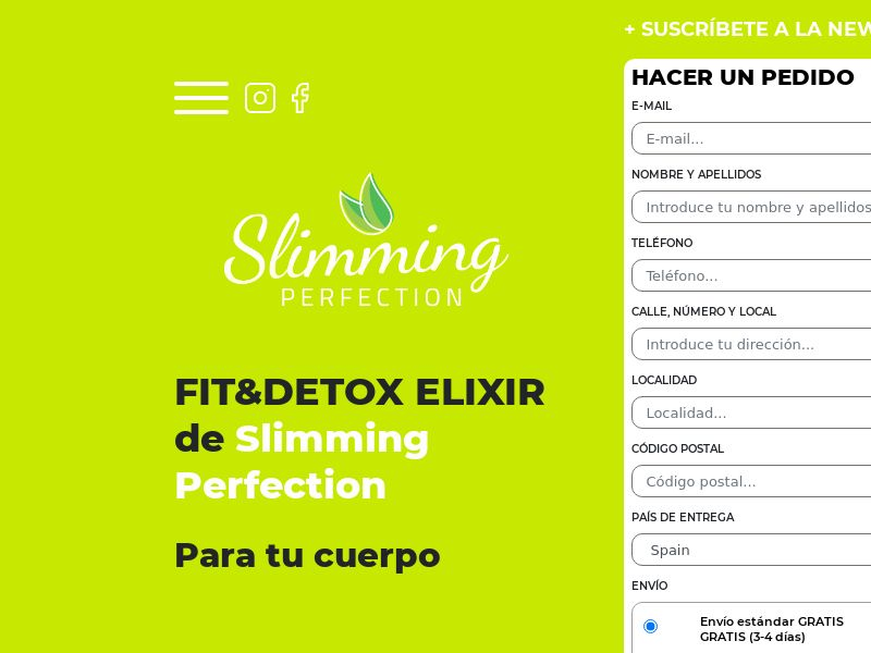 Slimming Perfection - ES (ES), [COD], Health and Beauty, Supplements, Sell, Call center contact, coronavirus, corona, virus, keto, diet, weight, fitness, face mask