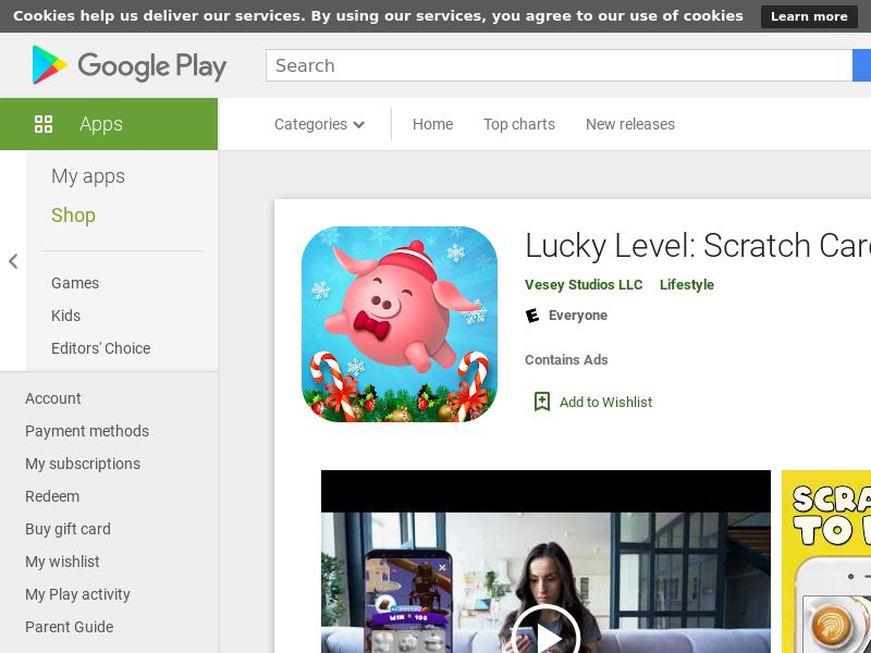 Lucky Level: Scratch Cards - Android (US) (CPI) (Incent) (No Rebrokering) (Personal Approval)