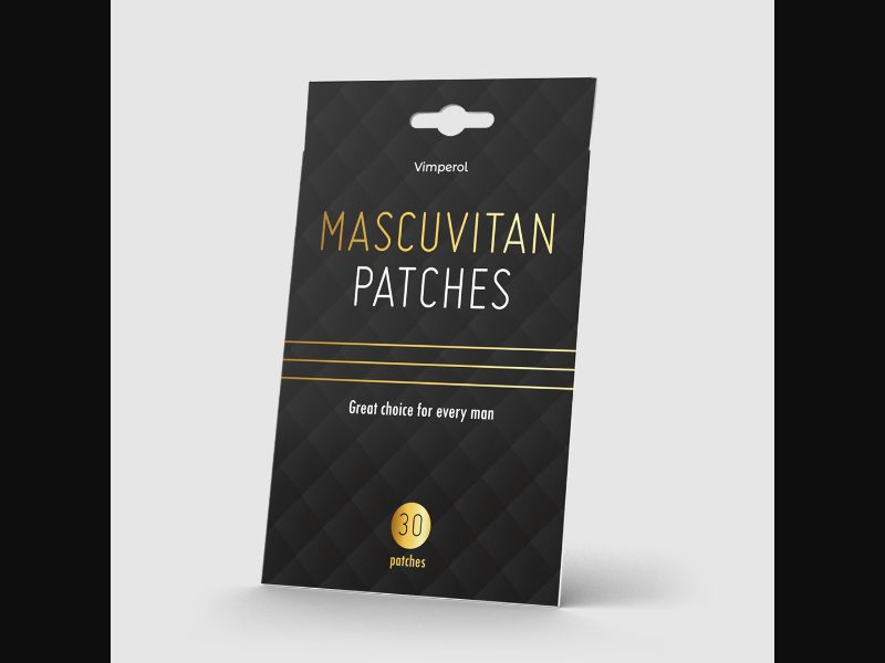 MASCUVITAN PATCHES – NO – CPA – penis enlargement, potency – patches - COD / SS - new creative available