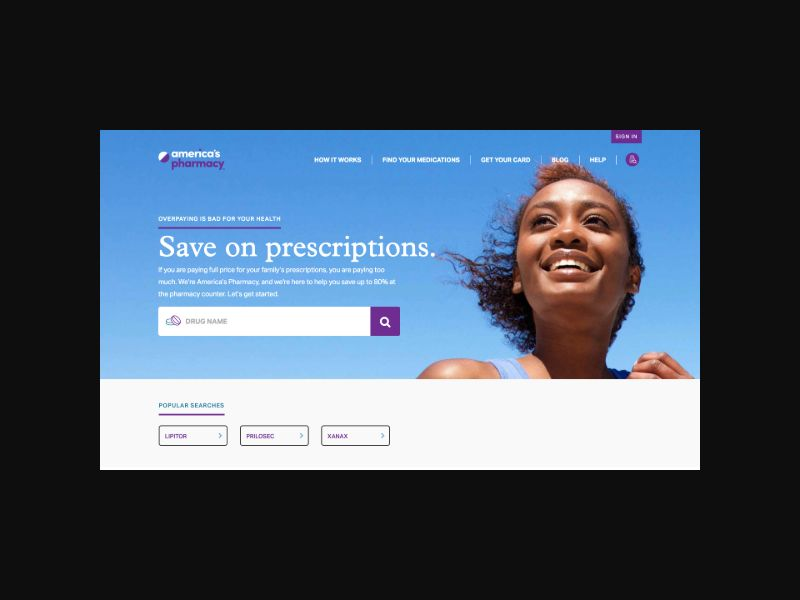 America's Pharmacy Prescription Discounts (US) CPL Desktop