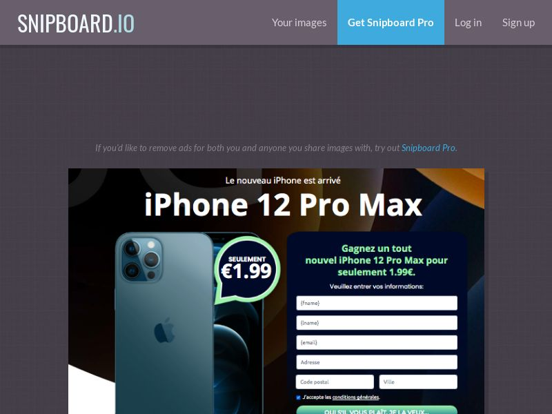 MyeBooky - iPhone 12 Pro Max LP64 FR - CC Submit