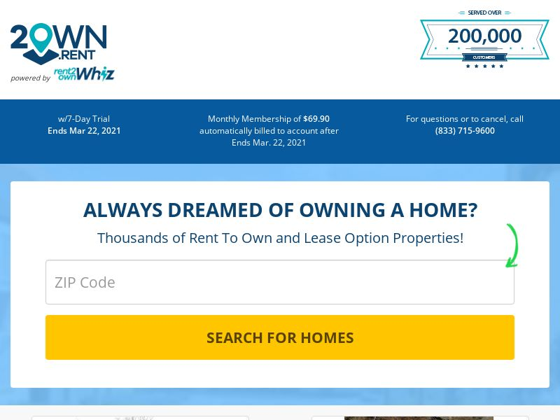 2own.rent - $1 Trial