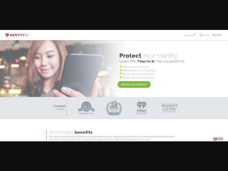 Identity IQ - V2 - Credit Reports & Repair - Trial - [US]