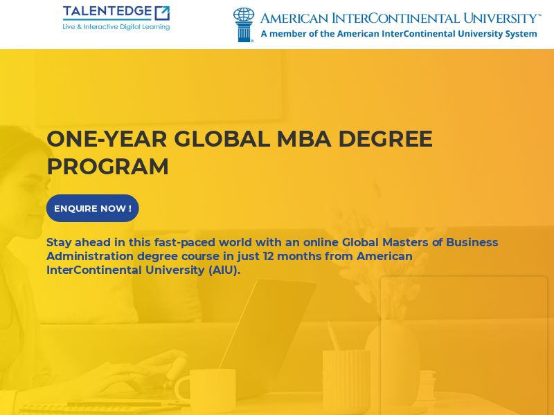 Talentedge.com AIU International MBA CPL - India